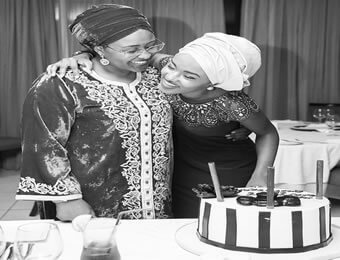 Image result for Photo Of Aisha Buhari & Youngest Daughter, Hanan