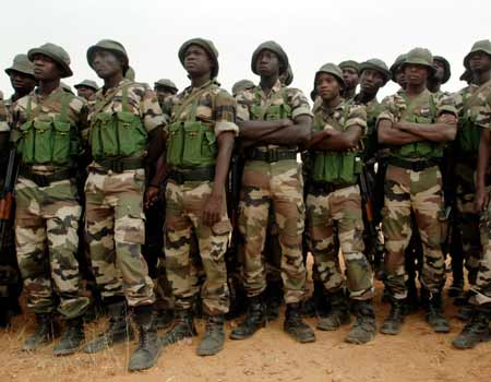 Nigerian Army soldiers, militants camps, troops, kidnapped expatriates, DHQ