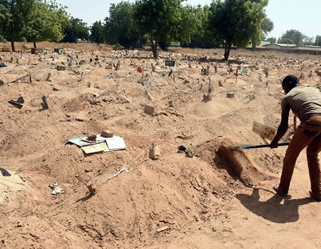 Popular Muslim cemetery, Ilorin cemetery management stops burial of lightning victim