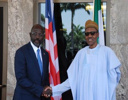 Breaking: Buhari, George Weah In Secret Meeting