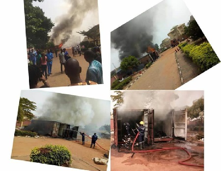 Fire guts INEC office in Anambra Fire guts INEC office in