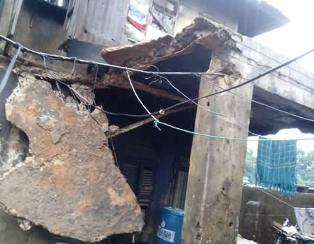 Five persons escape death, as another building collapses in Onitsha