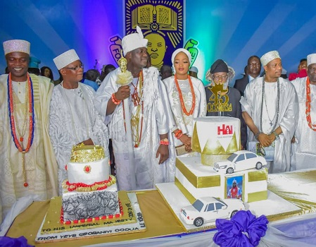 Amosun, Sunny Ade, others converge on Ife for Ooni's birthday