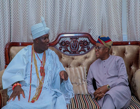 Osun gov, Oyetola, congratulates Ooni on his 45th birthday