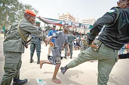police, protesters, lagos, Yoruba nation, hoodlums in lagos