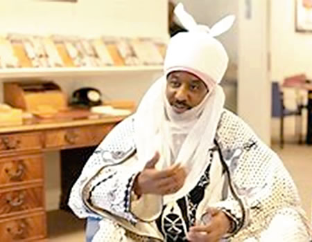Goose that's laying the golden egg for Nigeria about to die, says ex-Emir of Kano, Sanusi