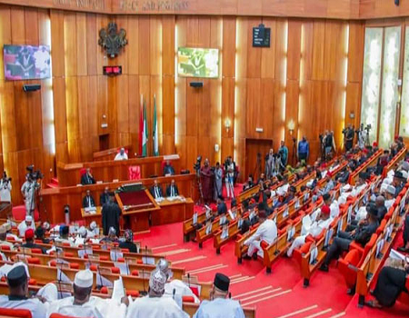Senate probes budget office over oral approval, Senate passes Tertiary Hospital Development Fund Bill, concern over bad shape of federal roads, Buhari's request for external loan, Senate threatens MDAs, Senate commends Buhari, Senate backs Egbin Power's, How Accountant General released N76bn ,, Senate approves Buhari's request , Senate asks NNPC, Senate swells number of universities, Senate passes bill , Senate passes FCT budget , Be prepared to account, Senate may pass supplementary budget, Senate to engage Finance Minister, Senate to investigate NIMC, Senate summons NSITF MD, Senate challenges Nigerians, Senate amends NIPOST Bill, Senate chides EDCs, Senate orders FCE Okene, Senate recommends 15-year, Senate to amend fiscal responsibility, establishment of Bitumen Institute , national livestock agency bill, Senate suspends plenary, Senate summons NICON AIICO, Senate summons solicitor general, Senate picks holes, passport racketeering abroad, Senate summons Auditor General, Drama in Senate, Senate divided over grounding , Bill for Federal University, Senate uncovers N120bn differential, displaced Nigerians in Benin Republic, Badagry-Sokoto ExpresswayBill for establishment of hospital , Senate backs INEC, Senate approves N11bn, Senate issues warrant of arrest, Senate to screen EFCC nominee, ethno-religious crisis of ominous proportions, Direct your grievances to right committee, Senate approves N453.2bn for NDDC, Ministry of Petroleum, Senate passes Finance Bill 2020, Dont demoralise our soldiers, ICT institute passes second reading, Senate, procurement of COVID-19 vaccines, jam, senate, INEC, queries,bailout, airline, Foreign Affair ministry, Senate to pass 2021 Budget, NPC, nominee, Senate to investigate gas explosions in Lagos, eight nominees as Justices, #EndSARS, Senate, Jimoh Isiaka, ASUU 2009 agreement, Nigerian judges salaries, Senate approves N4.28 trillion, p;activities of SARS, security agencies, Senators, Senate first line charge, Senate new FAAN law, 20