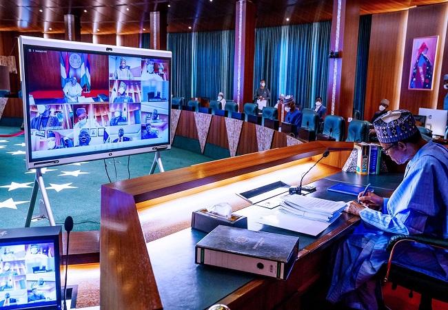 FEC, Buhari, FEC okays N2.3trn,Buhari,NEC, Meeting, APC, Buhari presides over virtual FEC meeting