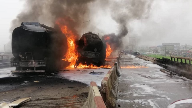 Tankers explosions: FRSC diverts traffic on Lagos-Ibadan ...