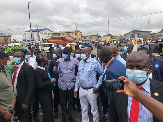 jail rail tracks traders, Lagos train accident