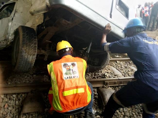 Train accident in Lagos