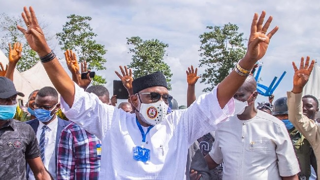 Akeredolu, re-election, Gbajabiamila , re-election, Akeredolu's victory, INEC declares Akeredolu winner