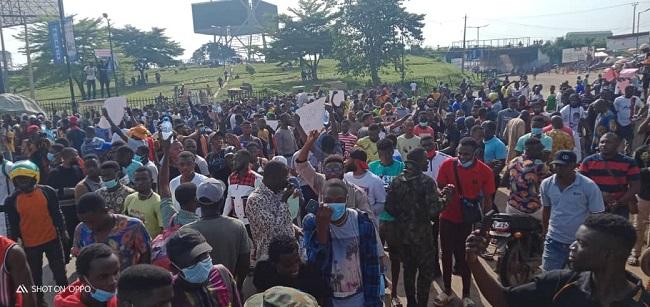 PHOTO NEWS: #EndSARS protest in Ibadan
