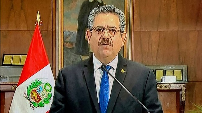 Peru's President Merino