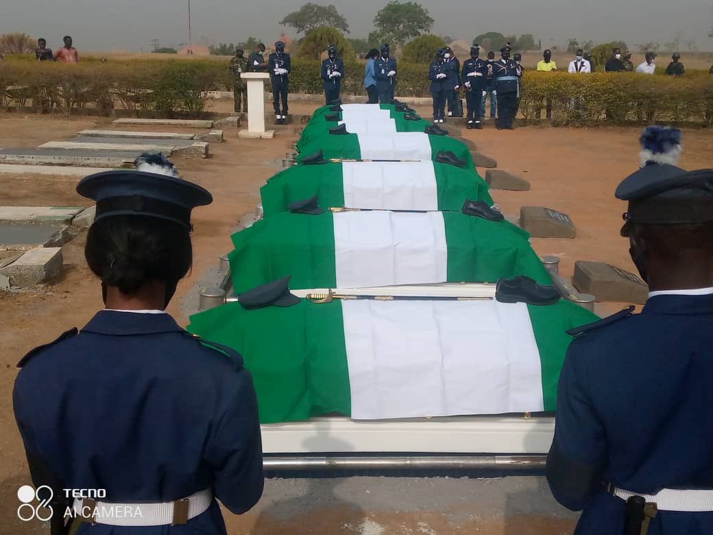 NAF Plane Crash: Victims Buried At National Military Cemetery
