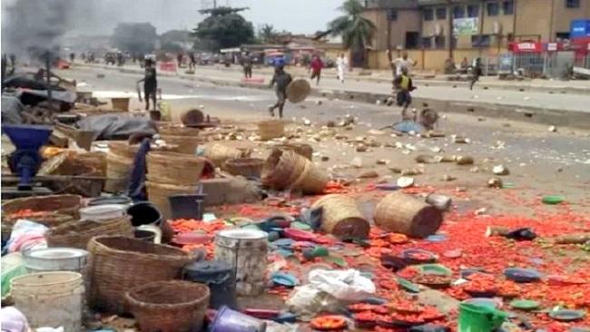 Image result for Gov Makinde shuts Shasha market indefinitely, imposes curfew