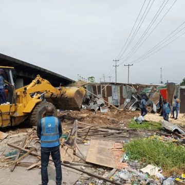 Delta taskforce demolishes shanties