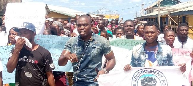 protest over sea incursion