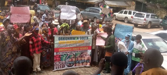 Edo communities protest govt's plan to lease forest reserves to private investor