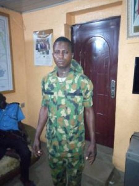 Police arrest fake soldier in Ogun