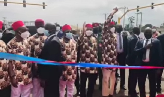 PresidentBuhari commissions N2bn tunnel amidst tight security