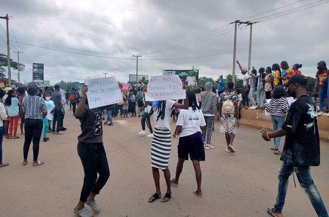 UNIBEN closes up as students protest the new N20,000 charge
